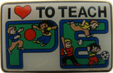 I (heart) To Teach PE Lapel Pin