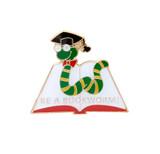 Be a Bookworm Lapel Pin