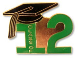 Class of 2012 Lapel Pin (6 Color Options)