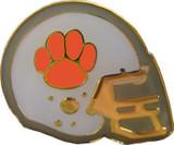 Football Helmet (Orange) Lapel Pin
