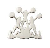 Cheerleader Pyramid (nickel) Lapel Pin (CHR-233S)