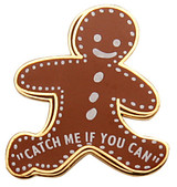 Gingerbread Catch Me If You Can Lapel Pin