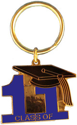 Key Ring Class of 11' Blue
