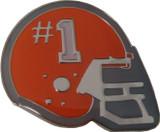 Helmet with #1 (Orange) Lapel Pin