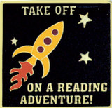 Take off on a Reading Adventure! Lapel Pin