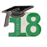 Class of 18' Green Lapel Pin