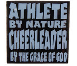 Athlete by Nature Cheerleader by the Grace of God Lapel Pin (CHR-214)