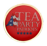 Tea Party Patriots Round Lapel Pin