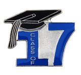 Class of 17' Blue Lapel Pin