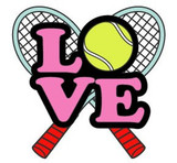 Love Tennis Racquets (pink) Lapel Pin