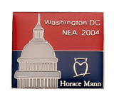 Washington DC NEA 2004 Horace Mann Lapel Pin