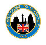 2012 London Skyline Lapel Pin - Blue