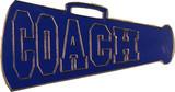 Cheer COACH - Blue Megaphone Lapel Pin (CHR-291)