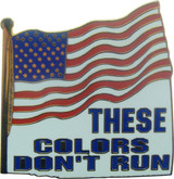These Colors Don't Run on US Flag Lapel Pin