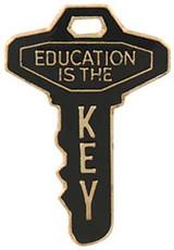 Education is the Key Lapel Pin