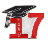 Class of 17' Red Lapel Pin