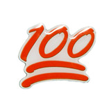 100 Emoji Lapel Pin