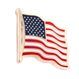 "US Flag 3/4"" Hard Enamel Pin"