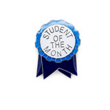 Student of the Month Ribbon (Silver) Lapel Pin