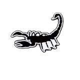Scorpion (Black & White) Lapel Pin