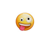 Crazy Eyes Emoji (New Smaller Series) Lapel Pin