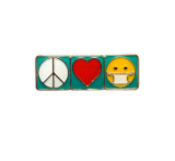 Peace Love Mask Pin