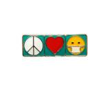 Peace Love Mask Pin