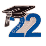 Blue Class of 2022 Lapel Pin