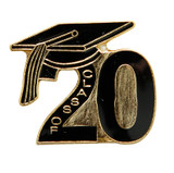 Black Class of 2020 Lapel Pin