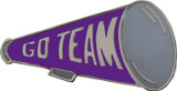 Go Team (Purple) Megaphone Lapel Pin