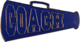 Cheer COACH - Blue Megaphone Lapel Pin (CHR-291)
