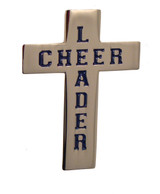 Cheerleader Cross Lapel Pin (CHR-207)