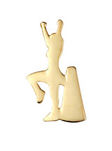 Cheerleader with Megaphone (2 Color Options) Lapel Pin
