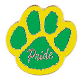 Paw Print - Pride (9 Color Options) Lapel Pin