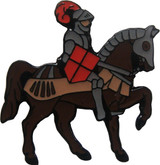 Knight on Horse (4 Color Options) Lapel Pin