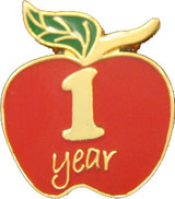 1 Year of Service Apple Lapel Pin