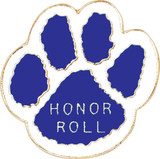 Paw Print - Honor Roll (7 Color Options) Lapel Pin