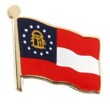 Georgia Flag Lapel Pin (2 Options)