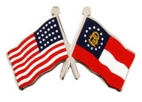 Flag Combo USA-Georgia Lapel Pin (2 Options)