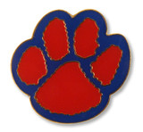 Paw Print (14 Color Options) Lapel Pin