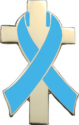 Blue Awareness Ribbon Lapel Pin