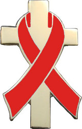Red Awareness Ribbon Lapel Pin