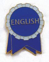 English Ribbon Lapel Pin (2 Color Options)
