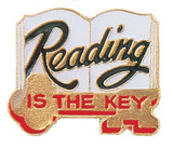 Reading is the Key Lapel Pin