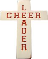 Cheerleader Cross (red) Lapel Pin (CHR-207R)