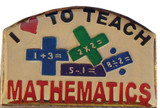 Love to Teach Math Lapel Pin