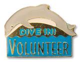 Dive In! Volunteer Lapel Pin