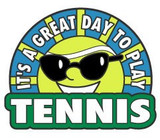 It's A Great Day To Play Tennis Lapel Pin