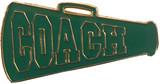 Cheer COACH - Green Megaphone Lapel Pin (CHR-293)