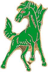 Mustang (Green) Lapel Pin